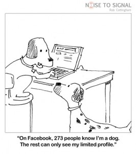 On Facebook, 273 people know I am a dog