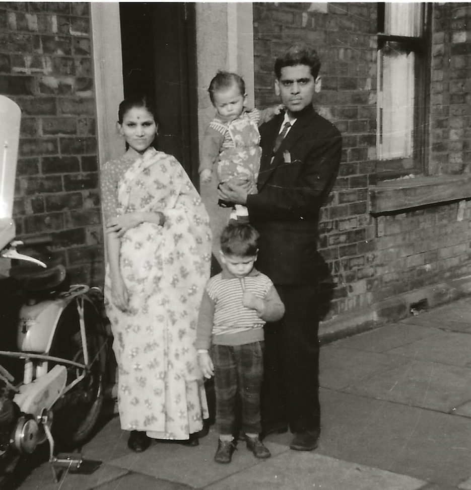 Chris Goswami with family 1960s