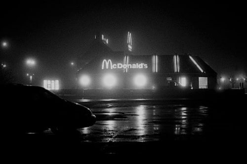 McDonalds in the fog