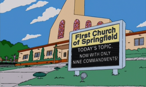 Simpsons church 1