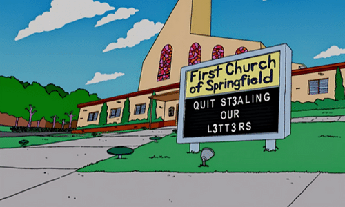 The Simpsons church 3