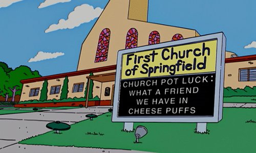 The Simpsons church 4
