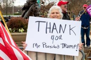 Trump thank you